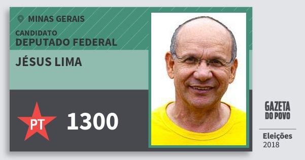 Santinho Jésus Lima 1300 (PT) Deputado Federal | Minas Gerais | Eleições 2018