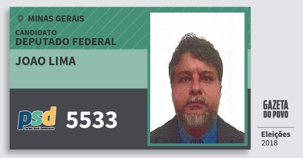 Santinho Joao Lima 5533 (PSD) Deputado Federal | Minas Gerais | Eleições 2018