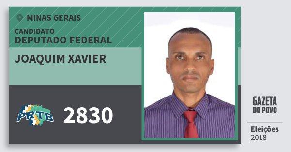 Santinho Joaquim Xavier 2830 (PRTB) Deputado Federal | Minas Gerais | Eleições 2018
