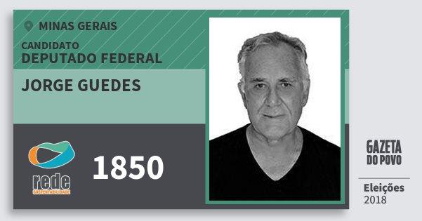 Santinho Jorge Guedes 1850 (REDE) Deputado Federal | Minas Gerais | Eleições 2018