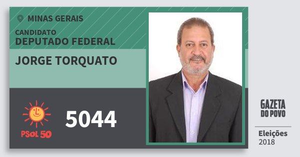 Santinho Jorge Torquato 5044 (PSOL) Deputado Federal | Minas Gerais | Eleições 2018