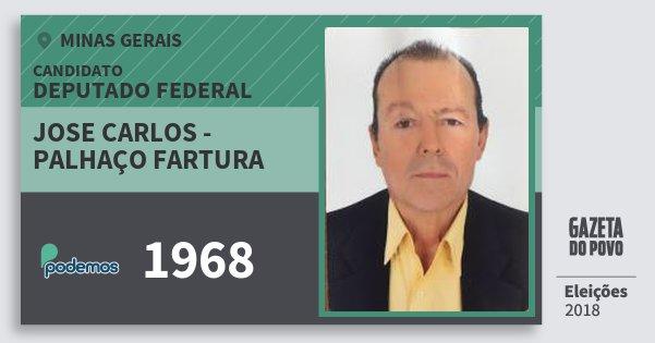 Santinho Jose Carlos - Palhaço Fartura 1968 (PODE) Deputado Federal | Minas Gerais | Eleições 2018