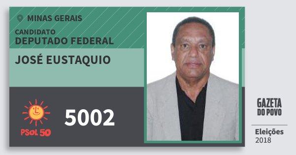 Santinho José Eustaquio 5002 (PSOL) Deputado Federal | Minas Gerais | Eleições 2018