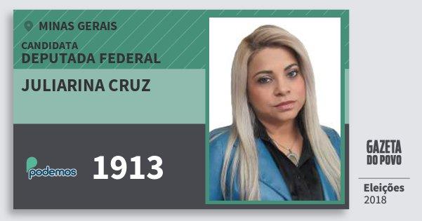 Santinho Juliarina Cruz 1913 (PODE) Deputada Federal | Minas Gerais | Eleições 2018