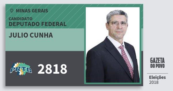 Santinho Julio Cunha 2818 (PRTB) Deputado Federal | Minas Gerais | Eleições 2018