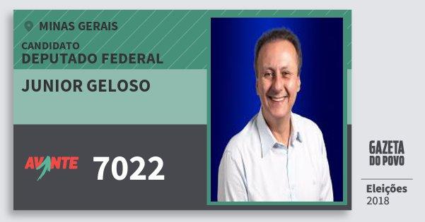 Santinho Junior Geloso 7022 (AVANTE) Deputado Federal | Minas Gerais | Eleições 2018