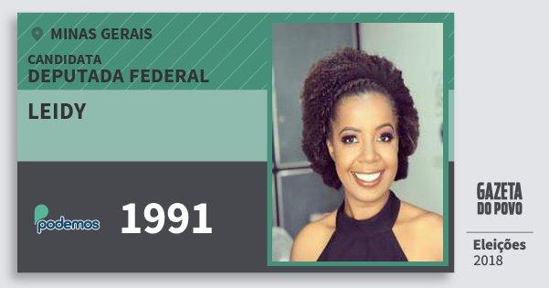 Santinho Leidy 1991 (PODE) Deputada Federal | Minas Gerais | Eleições 2018