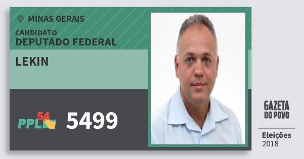 Santinho Lekin 5499 (PPL) Deputado Federal | Minas Gerais | Eleições 2018