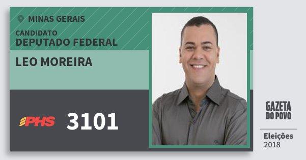 Santinho Leo Moreira 3101 (PHS) Deputado Federal | Minas Gerais | Eleições 2018