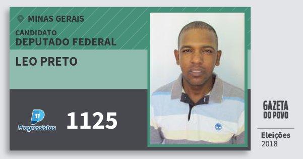 Santinho Leo Preto 1125 (PP) Deputado Federal | Minas Gerais | Eleições 2018