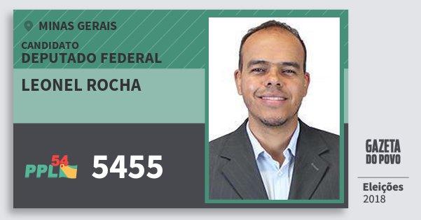 Santinho Leonel Rocha 5455 (PPL) Deputado Federal | Minas Gerais | Eleições 2018