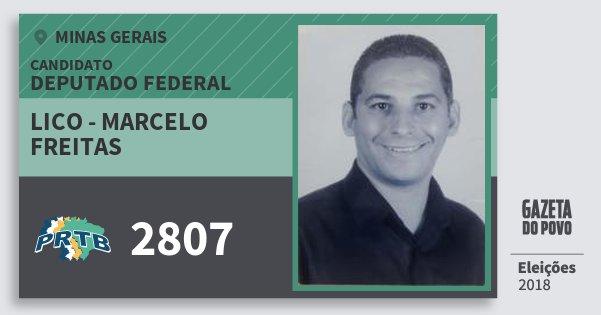 Santinho Lico - Marcelo Freitas 2807 (PRTB) Deputado Federal | Minas Gerais | Eleições 2018
