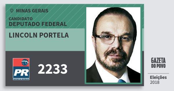 Santinho Lincoln Portela 2233 (PR) Deputado Federal | Minas Gerais | Eleições 2018