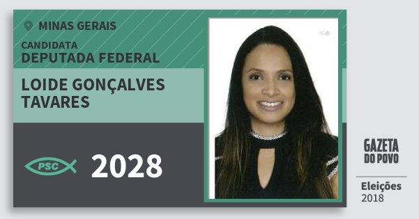 Santinho Loide Gonçalves Tavares 2028 (PSC) Deputada Federal | Minas Gerais | Eleições 2018