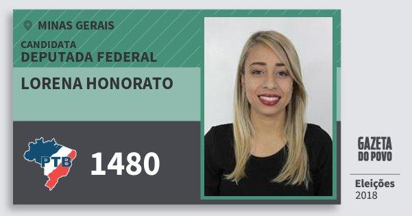 Santinho Lorena Honorato 1480 (PTB) Deputada Federal | Minas Gerais | Eleições 2018