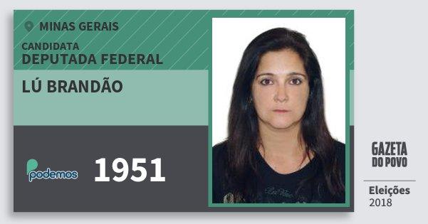 Santinho Lú Brandão 1951 (PODE) Deputada Federal | Minas Gerais | Eleições 2018
