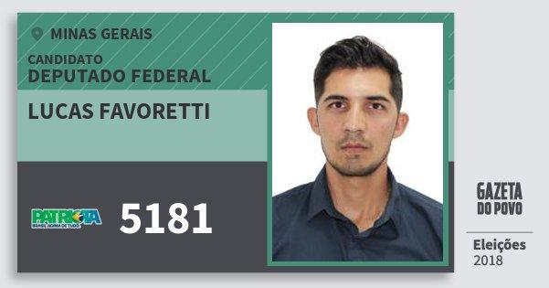 Santinho Lucas Favoretti 5181 (PATRI) Deputado Federal | Minas Gerais | Eleições 2018