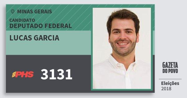 Santinho Lucas Garcia 3131 (PHS) Deputado Federal | Minas Gerais | Eleições 2018