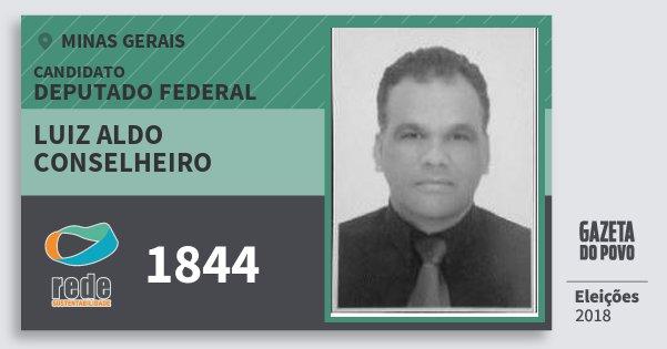 Santinho Luiz Aldo Conselheiro 1844 (REDE) Deputado Federal | Minas Gerais | Eleições 2018