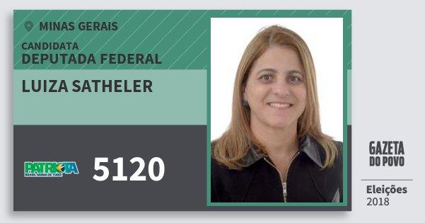 Santinho Luiza Satheler 5120 (PATRI) Deputada Federal | Minas Gerais | Eleições 2018