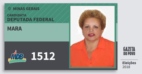 Santinho Mara 1512 (MDB) Deputada Federal | Minas Gerais | Eleições 2018