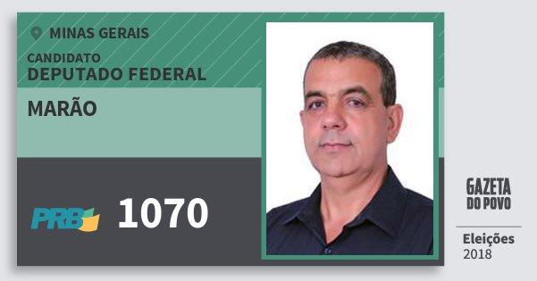 Santinho Marão 1070 (PRB) Deputado Federal | Minas Gerais | Eleições 2018