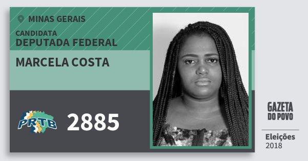 Santinho Marcela Costa 2885 (PRTB) Deputada Federal | Minas Gerais | Eleições 2018
