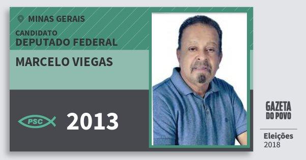 Santinho Marcelo Viegas 2013 (PSC) Deputado Federal | Minas Gerais | Eleições 2018