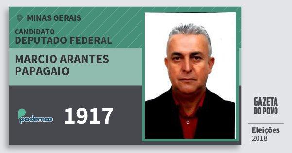 Santinho Marcio Arantes Papagaio 1917 (PODE) Deputado Federal | Minas Gerais | Eleições 2018