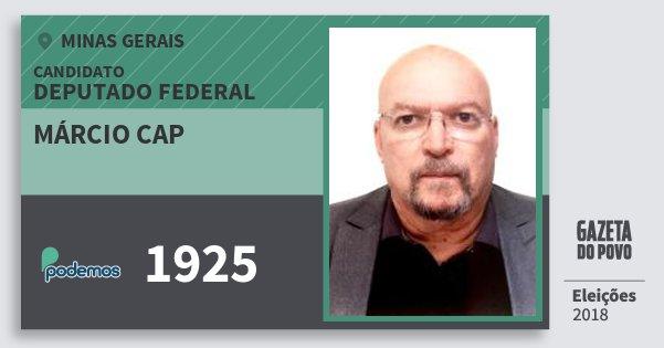 Santinho Márcio Cap 1925 (PODE) Deputado Federal | Minas Gerais | Eleições 2018