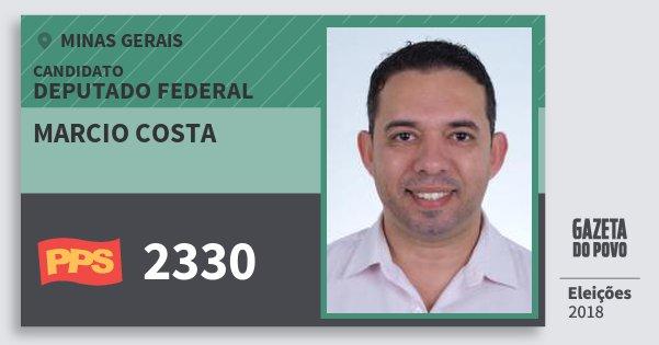 Santinho Marcio Costa 2330 (PPS) Deputado Federal | Minas Gerais | Eleições 2018