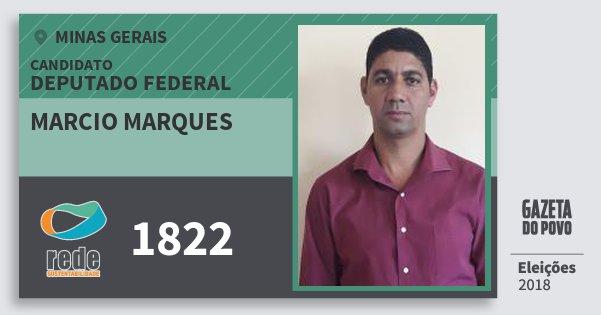 Santinho Marcio Marques 1822 (REDE) Deputado Federal | Minas Gerais | Eleições 2018