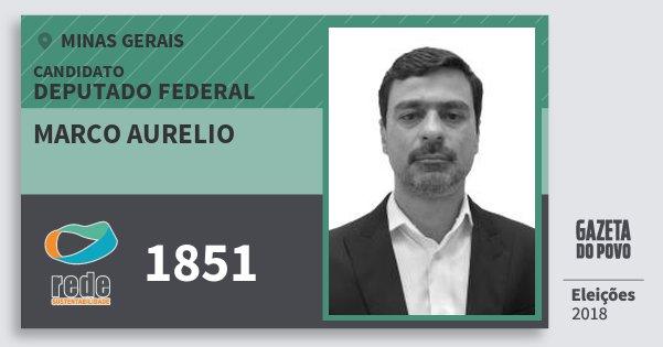 Santinho Marco Aurelio 1851 (REDE) Deputado Federal | Minas Gerais | Eleições 2018