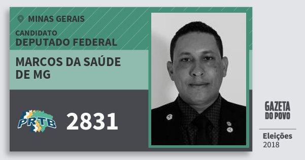 Santinho Marcos da Saúde de Mg 2831 (PRTB) Deputado Federal | Minas Gerais | Eleições 2018