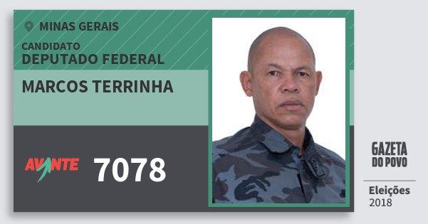 Santinho Marcos Terrinha 7078 (AVANTE) Deputado Federal | Minas Gerais | Eleições 2018