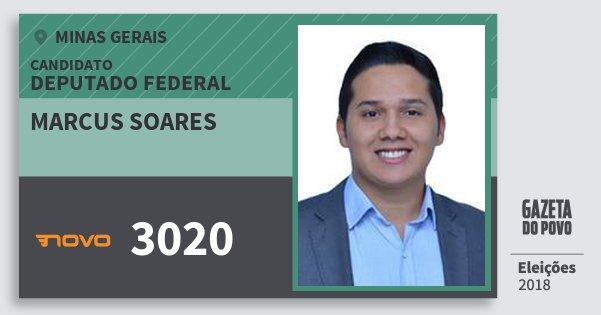 Santinho Marcus Soares 3020 (NOVO) Deputado Federal | Minas Gerais | Eleições 2018