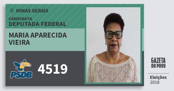 Santinho Maria Aparecida Vieira 4519 (PSDB) Deputada Federal | Minas Gerais | Eleições 2018