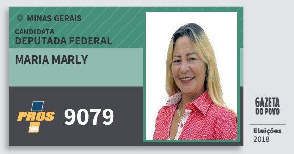 Santinho Maria Marly 9079 (PROS) Deputada Federal | Minas Gerais | Eleições 2018
