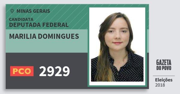 Santinho Marilia Domingues 2929 (PCO) Deputada Federal | Minas Gerais | Eleições 2018