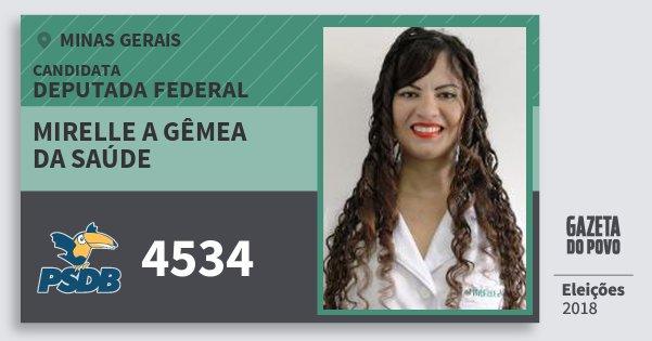Santinho Mirelle A Gêmea da Saúde 4534 (PSDB) Deputada Federal | Minas Gerais | Eleições 2018