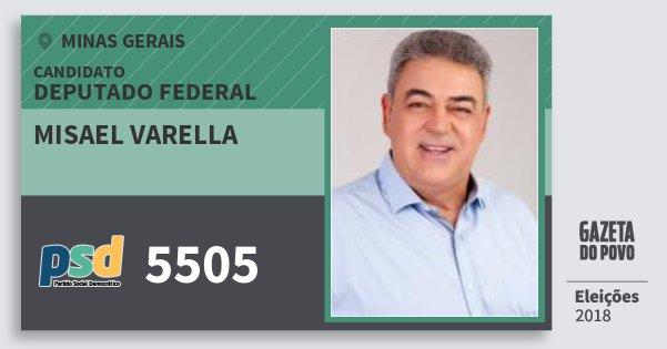 Santinho Misael Varella 5505 (PSD) Deputado Federal | Minas Gerais | Eleições 2018