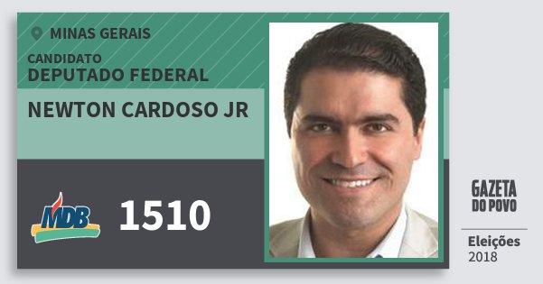 Santinho Newton Cardoso Jr 1510 (MDB) Deputado Federal | Minas Gerais | Eleições 2018