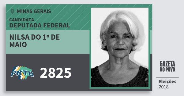 Santinho Nilsa do 1º de Maio 2825 (PRTB) Deputada Federal | Minas Gerais | Eleições 2018