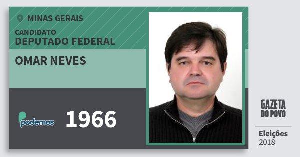 Santinho Omar Neves 1966 (PODE) Deputado Federal | Minas Gerais | Eleições 2018