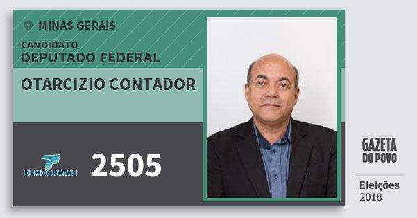 Santinho Otarcizio Contador 2505 (DEM) Deputado Federal | Minas Gerais | Eleições 2018