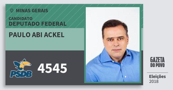 Santinho Paulo Abi Ackel 4545 (PSDB) Deputado Federal | Minas Gerais | Eleições 2018