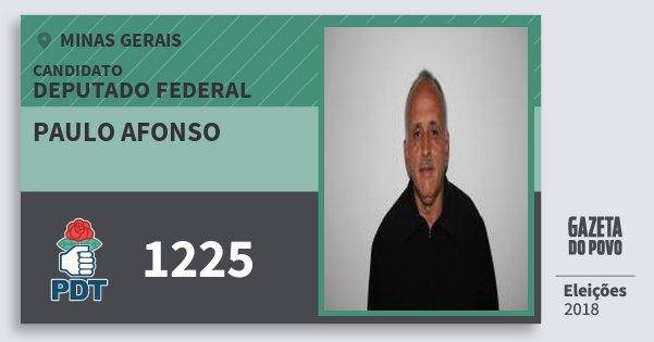 Santinho Paulo Afonso 1225 (PDT) Deputado Federal | Minas Gerais | Eleições 2018