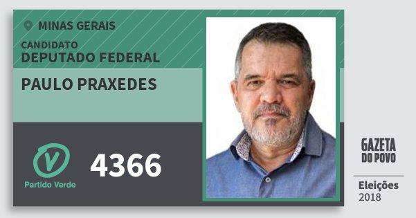 Santinho Paulo Praxedes 4366 (PV) Deputado Federal | Minas Gerais | Eleições 2018