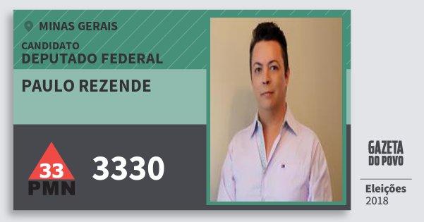 Santinho Paulo Rezende 3330 (PMN) Deputado Federal | Minas Gerais | Eleições 2018