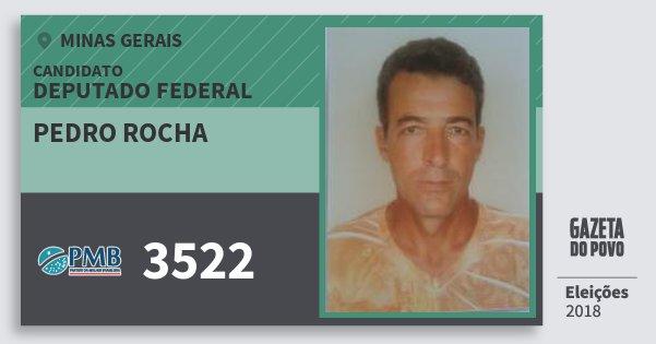 Santinho Pedro Rocha 3522 (PMB) Deputado Federal | Minas Gerais | Eleições 2018